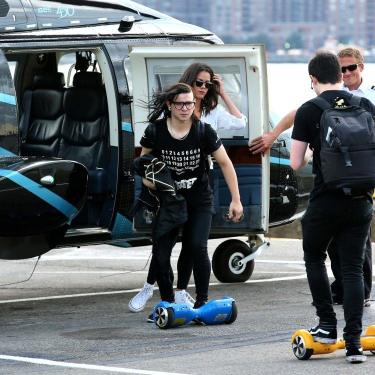 DJ Skrillex on hoverboard