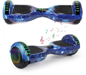 YHR Stylish Hoverboard with Led Lights and Bluetooth Speaker